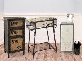 muebles auxiliares de estilo industrial. calidez y diseño | dale ... - Muebles De Diseno Vintage