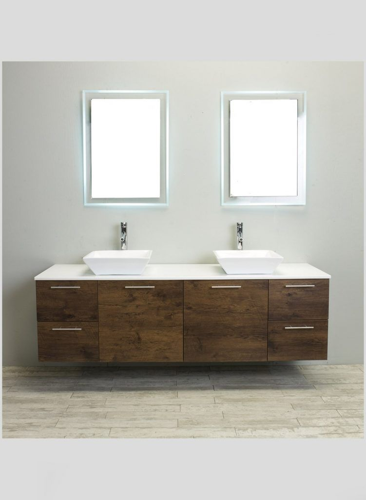 Wall Mounted Bathroom Vanity Accanto Contemporary Wall Mounted 72