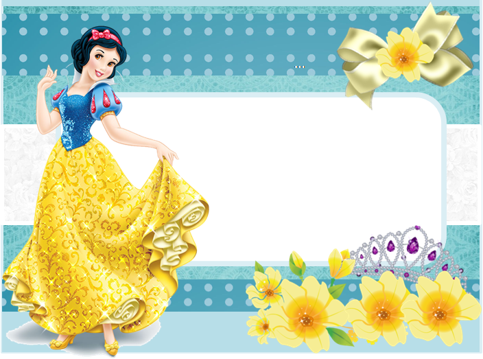 snow white free printable invitations