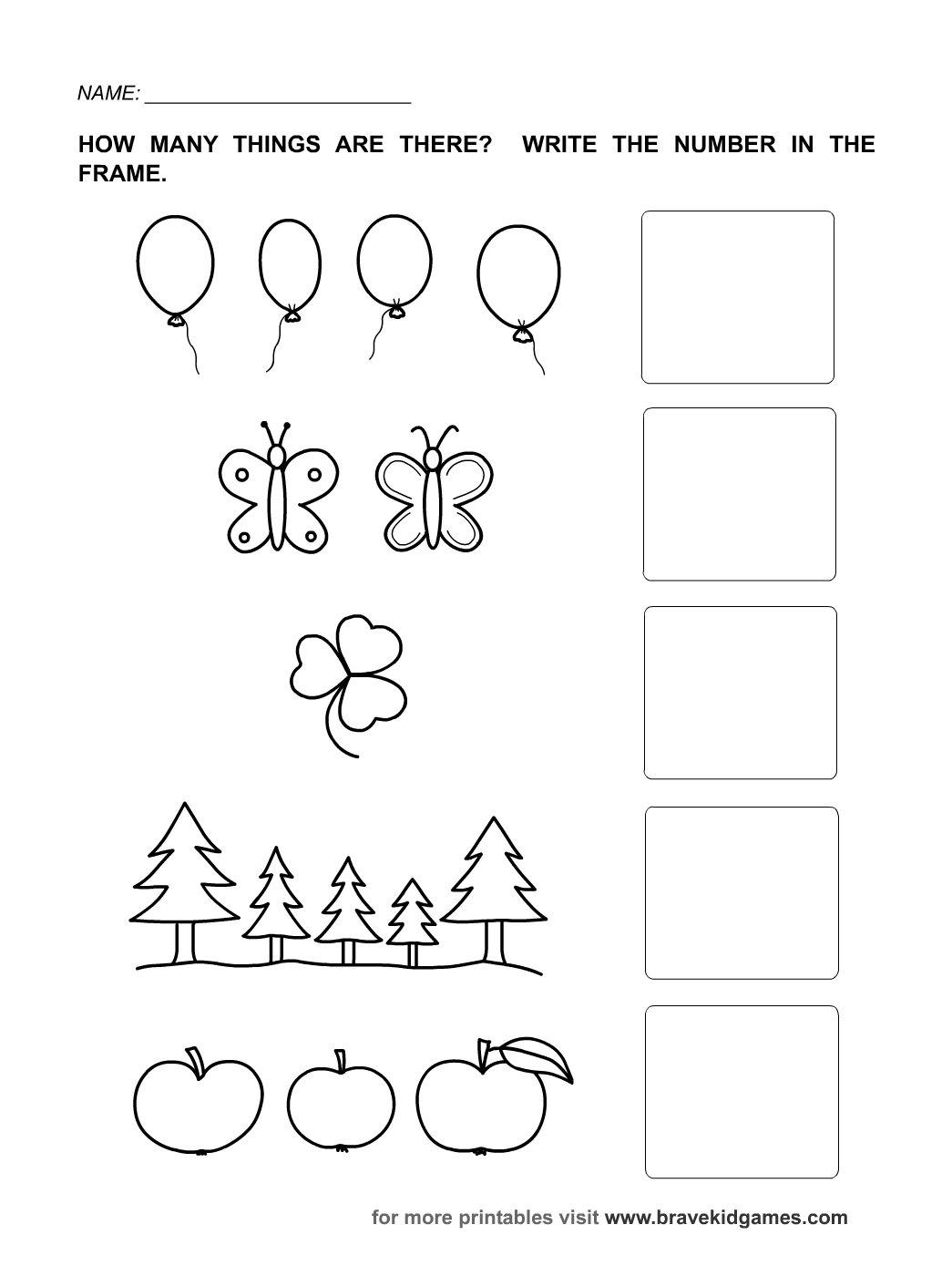 Worksheets For Numbers Kindergarten Worksheets Dynamically Created