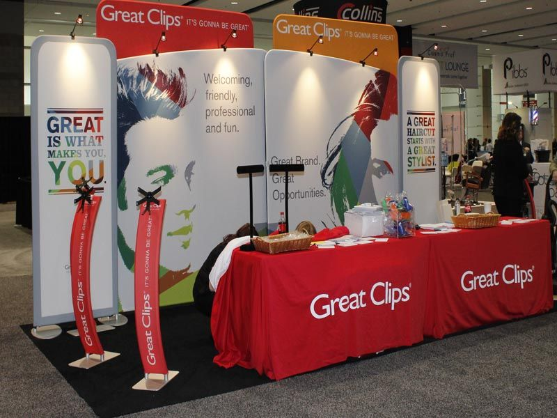 Great Clips Portable Trade Show Display | Tradeshow Ideas ...