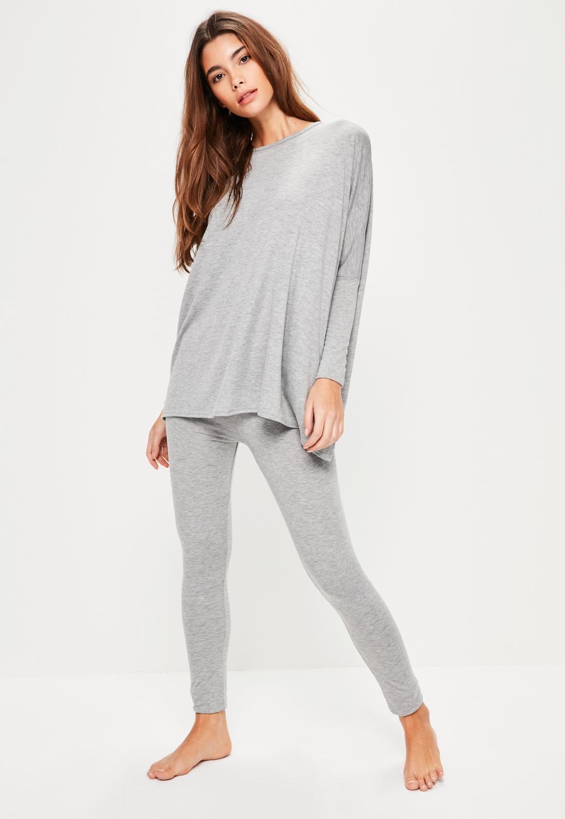 7b828de757 Missguided - Grey Jersey Oversized Loungewear Set