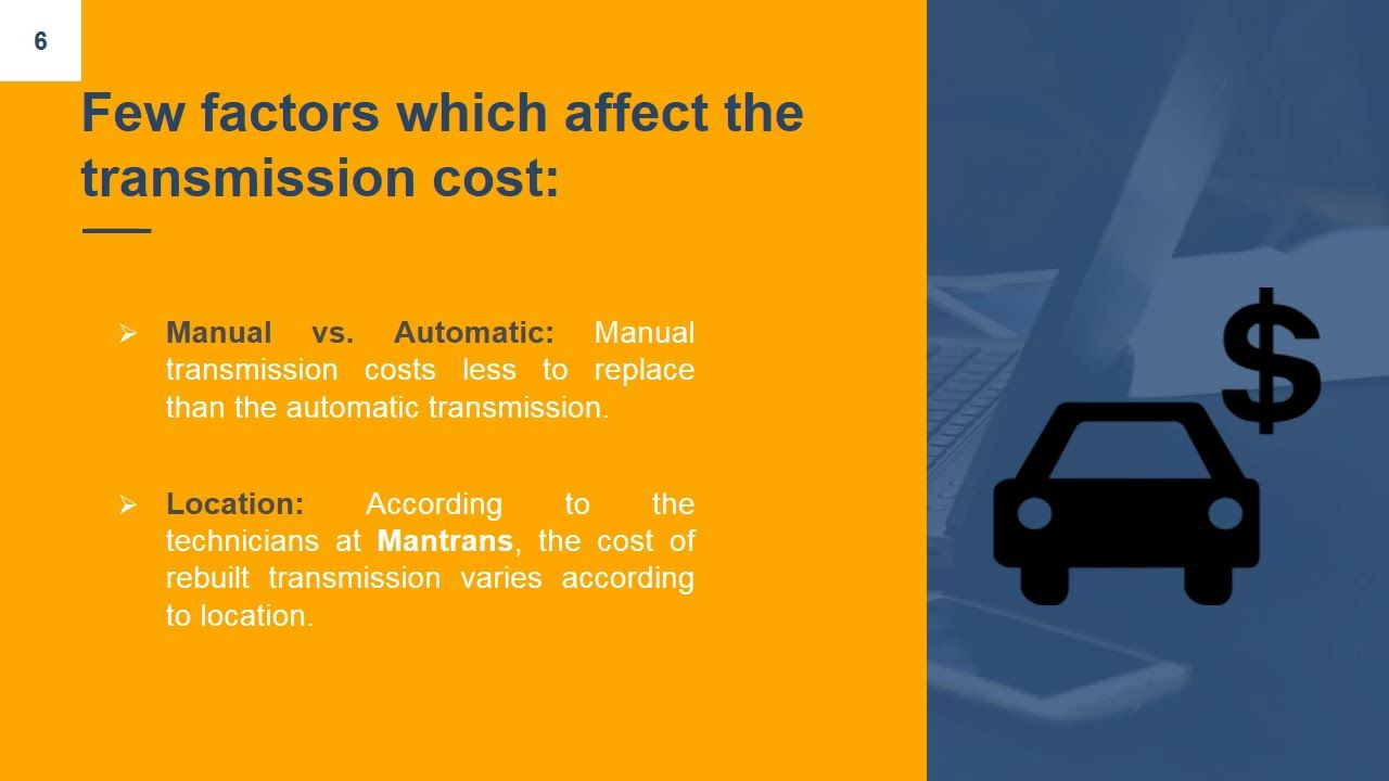 Mantrans LLC How Much Does Transmission Repair Cost