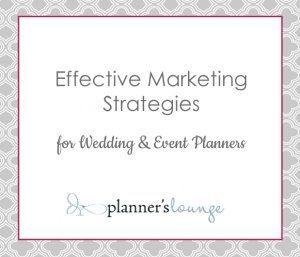 marketing plan for event planning business