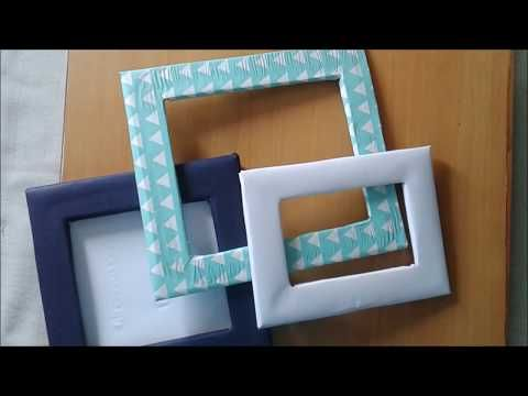 How To Make A Photo Frame With Waste Material At Home Diy