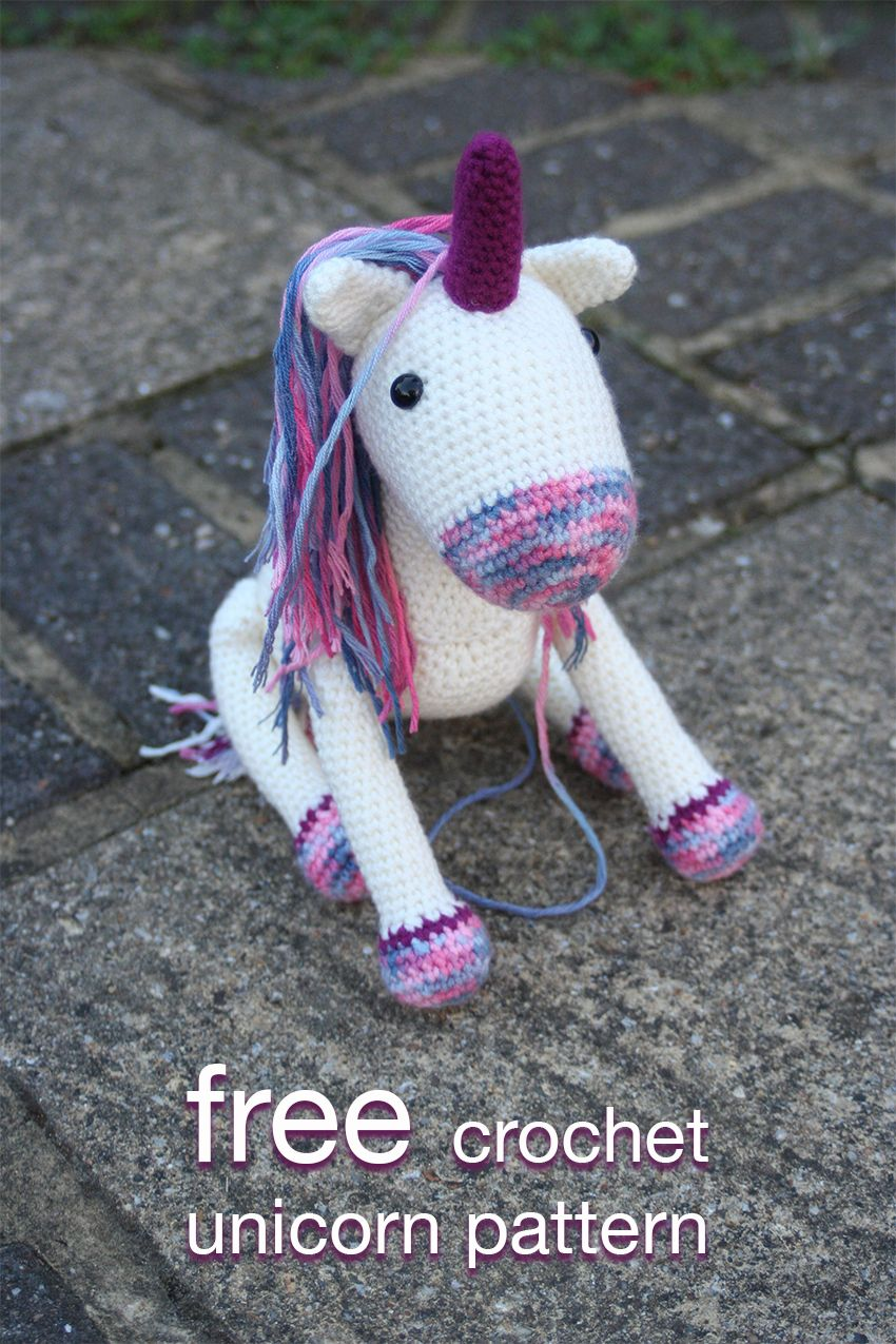 Crochet Unicorn Pattern Bright Colorful With Easy Instructions