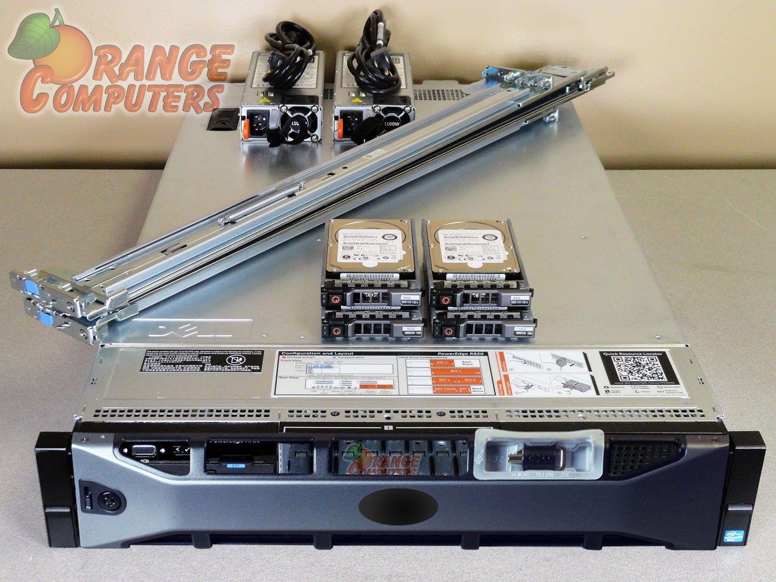 Dell PowerEdge R820 Server Four E54620 8 Core 2.2GHz