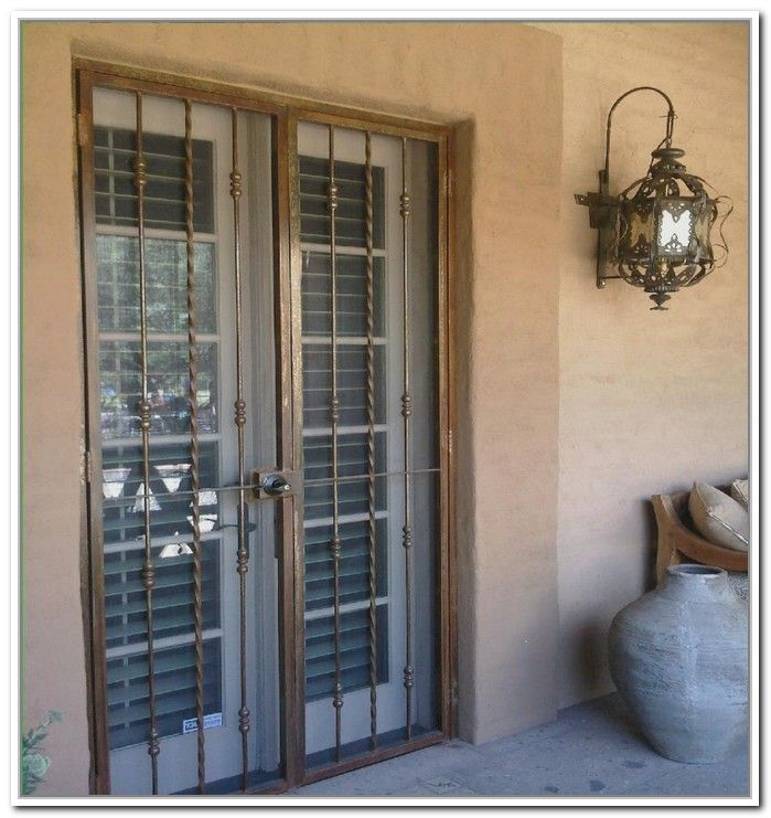 French doors security bars my kitchen pinterest for Security doors for french doors