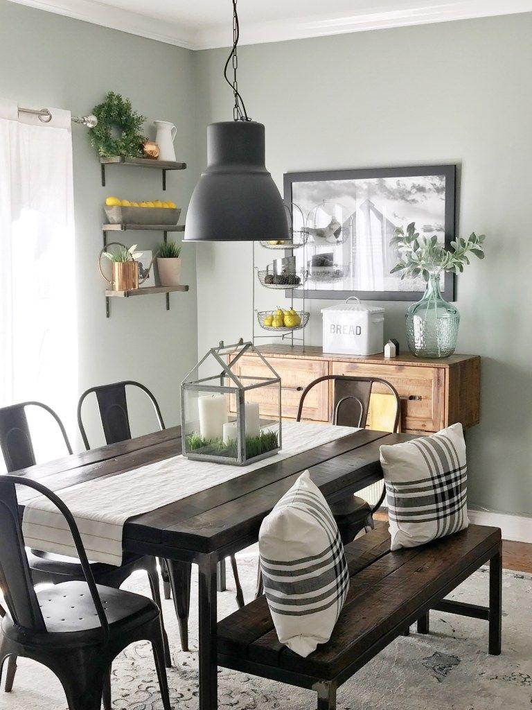 Industrial Farmhouse Dining Table | Farm house living room ...