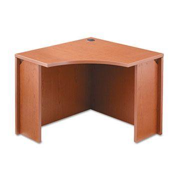 10500 Series Curved Corner Workstation, 18w X 36d X 36d X 29-1/2h, Henna Cherry