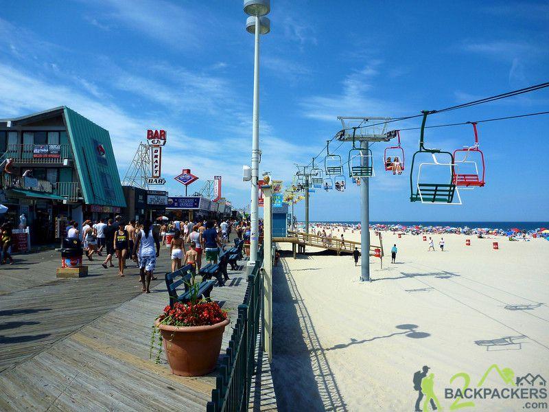 1950s OCEAN CITY N.J. BOARDWALK   Ocean city nj, Ocean