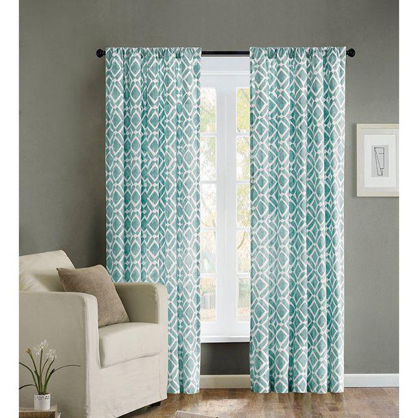 EFF Henna Blackout Curtain Panel Pair - 15596368 - Overstock - cortinas azules