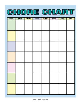 This Colorful C Chart Has E For Multiple Tasks Each Day Of The Week Free To And Print