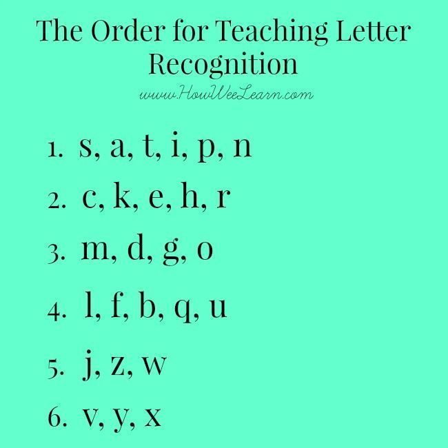 Teaching Letter Recognition  What Order To Introduce Letters