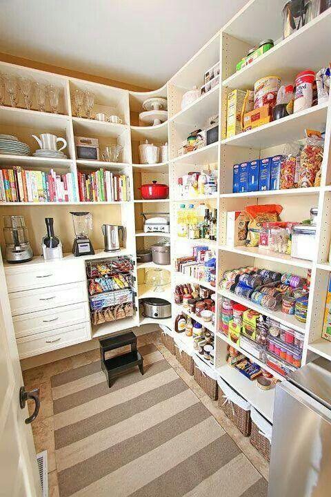Modelo de dispensa cozinha em 2019 armazenamento em - Armarios para despensa ...