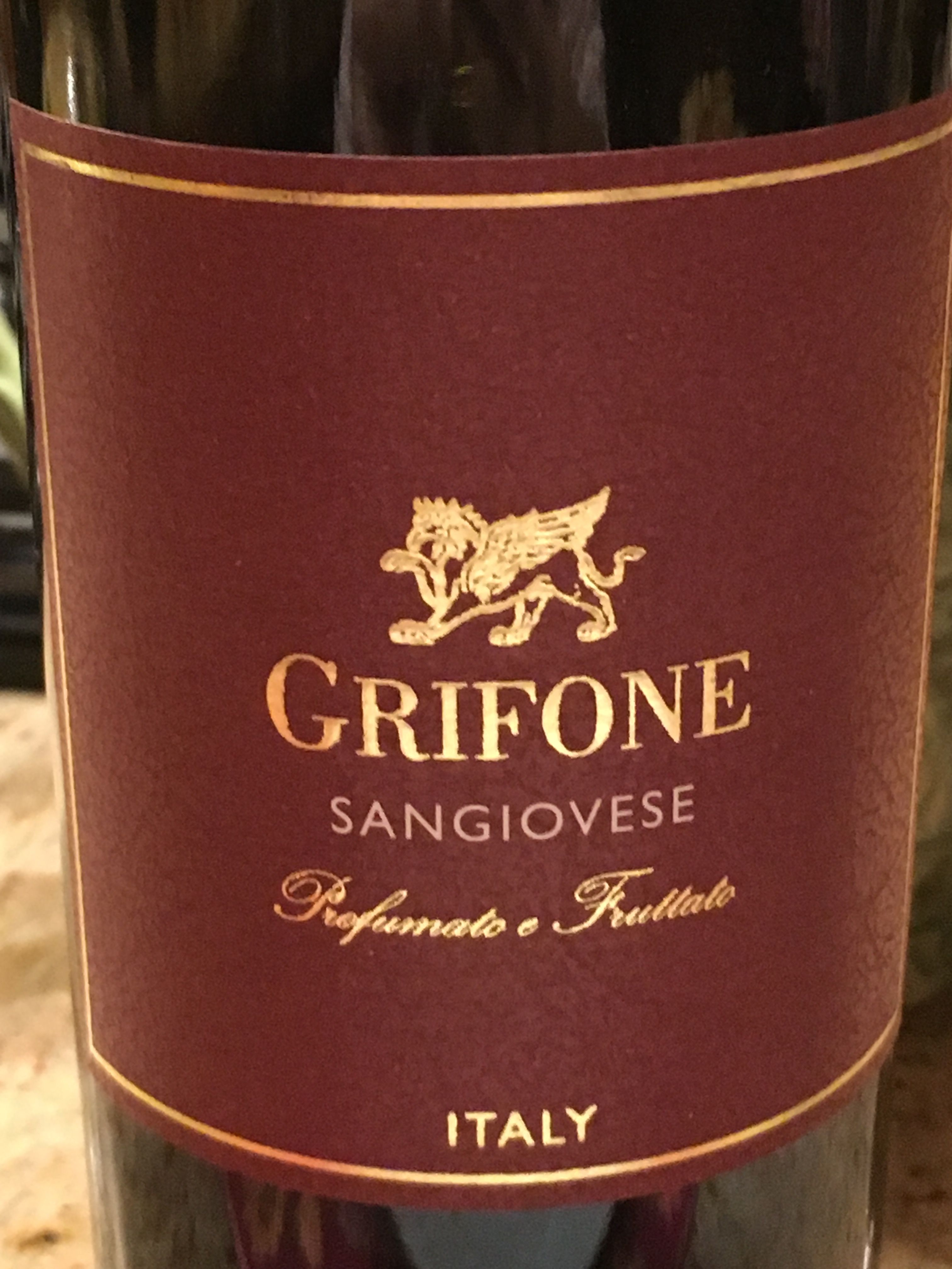 Grifone Sangiovese Profumato E Fruttato From Puglia Italian Wine Wines Cheap Wine