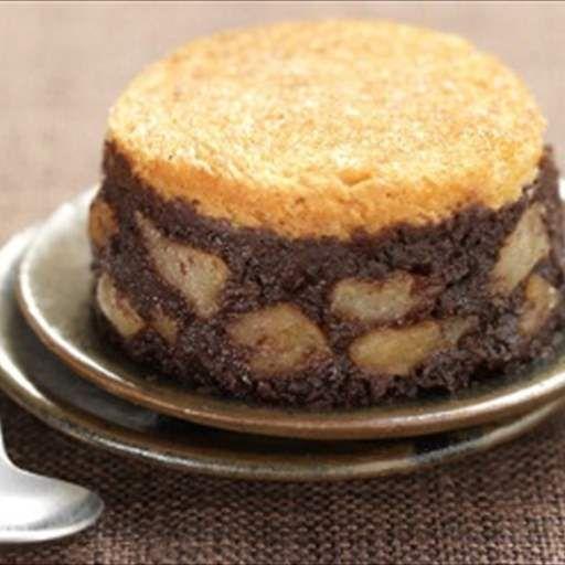 Pudding con chocolate cremoso y fruta