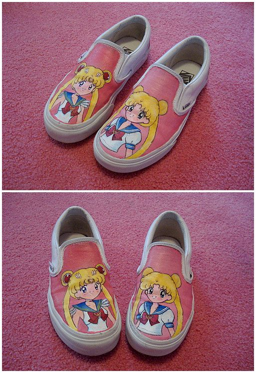 67f83e04d194 Made to order customized Sailor Moon shoes by ashliegerard on Etsy ...