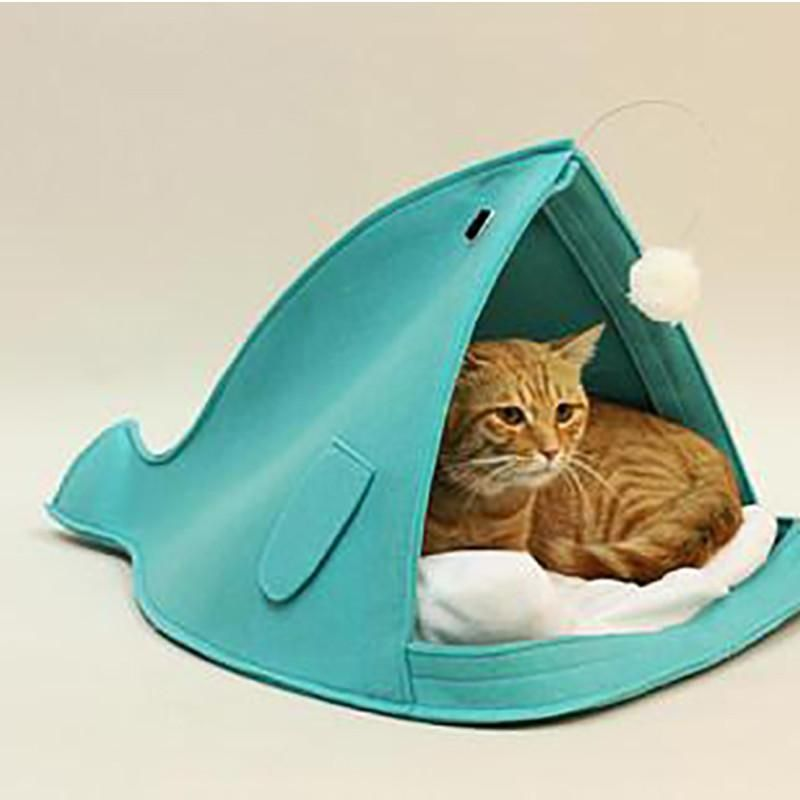 Open Mouth Cute Shark Cat Bed Cat Accessories Pets Cat Toys