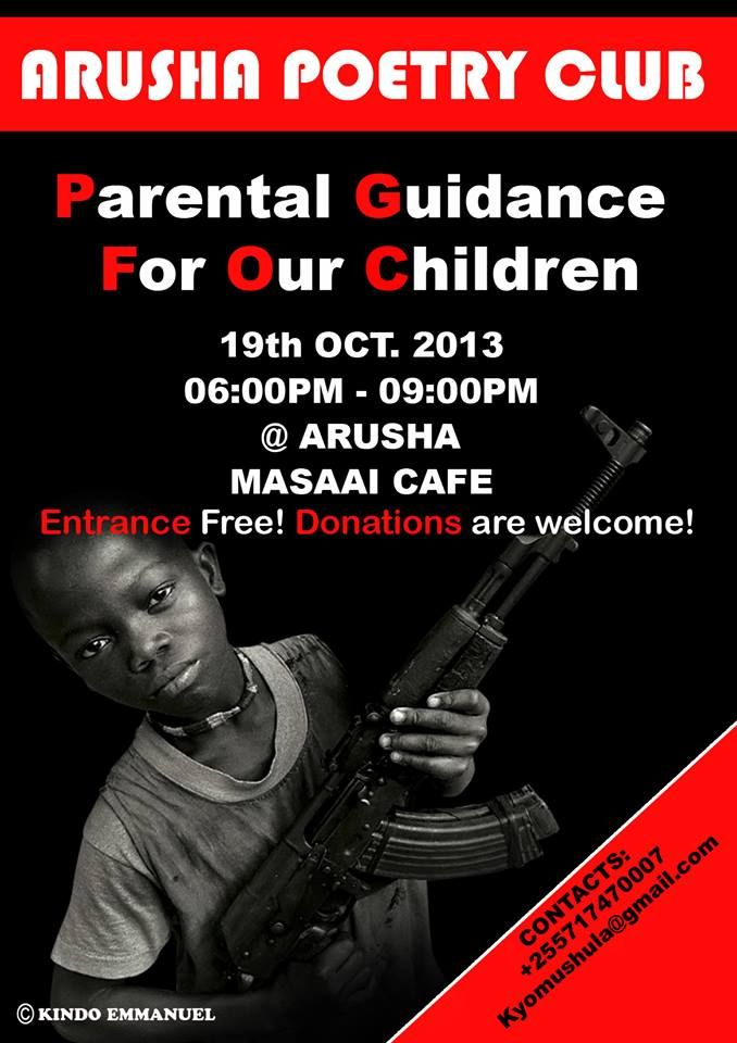 arusha poetry club poster parental guidance for our children book rh pinterest com au damu nyeusi guide