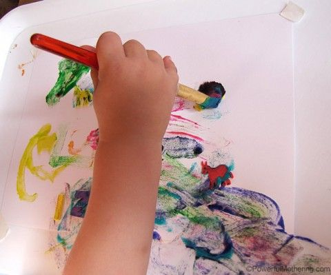Homemade Finger Paint Recipe with Fine Motor Activity | Powerful Mothering