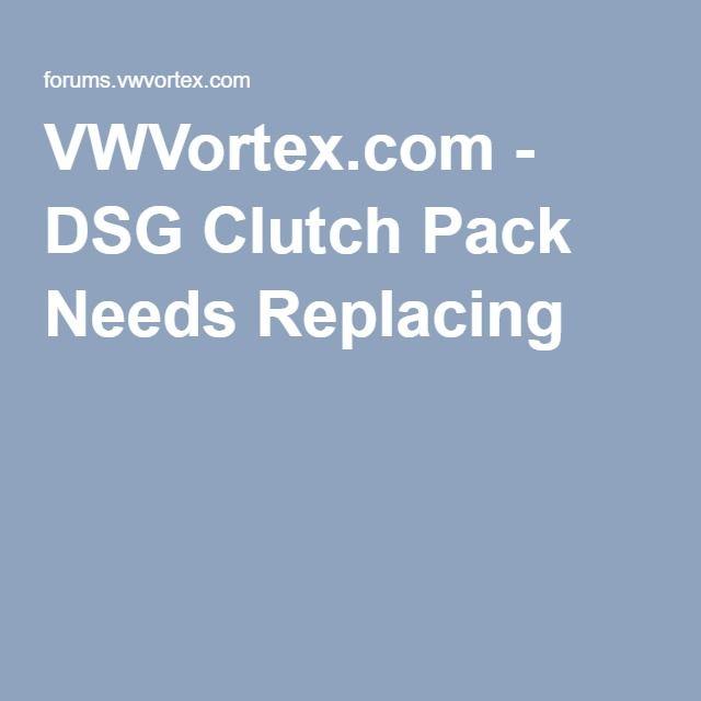 VWVortex com - DSG Clutch Pack Needs Replacing | VW Eos