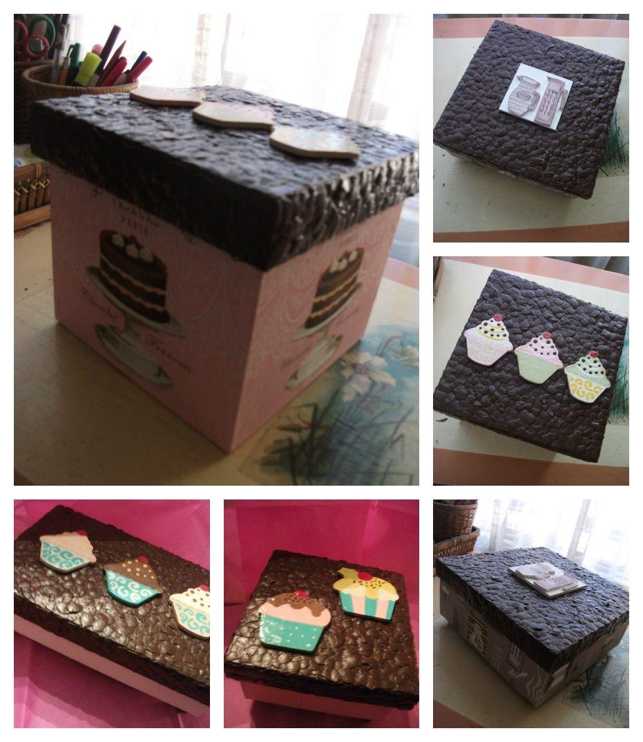 Cajas de madera decoradas en decoupage con cascar n de - Cajas de madera decoradas ...
