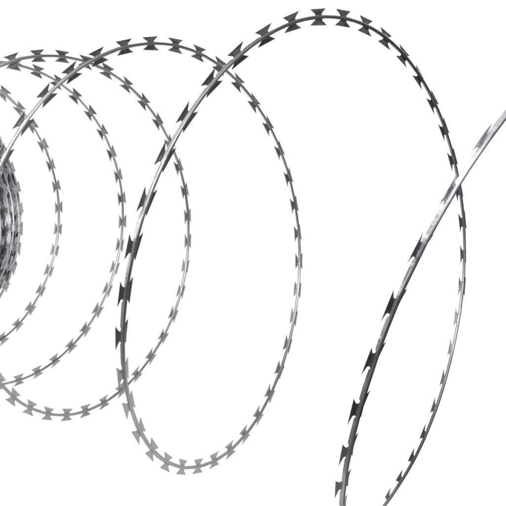 Patio 197 NATO Razor Helical Barbed Wire Roll Galvanized Steel ...