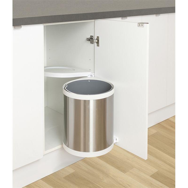 kaboodle swing out chrome waste bin 15l with images kitchen storage kitchen bin kitchen on kaboodle kitchen storage id=89837