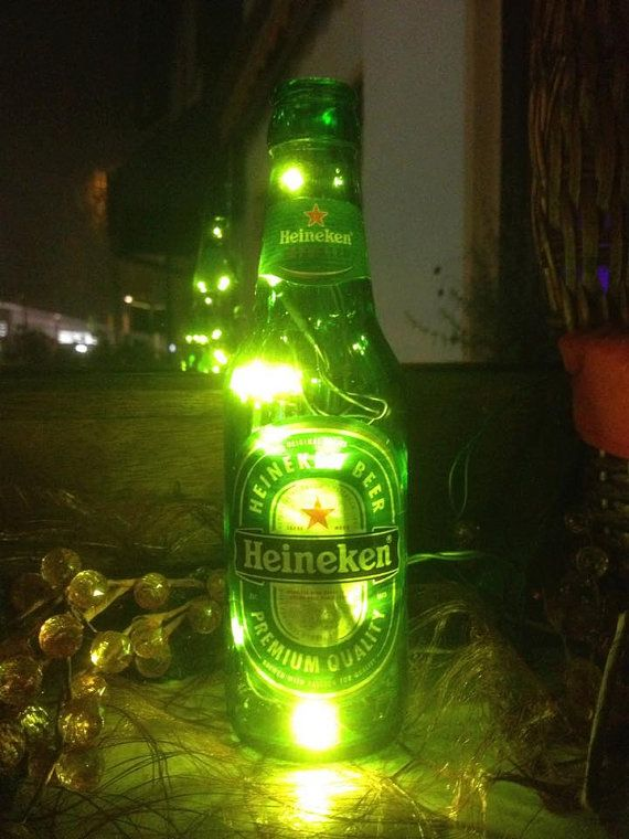 025l heineken flasche mit led lichterkette von taunusbottles taunus bottles pinterest heineken. Black Bedroom Furniture Sets. Home Design Ideas