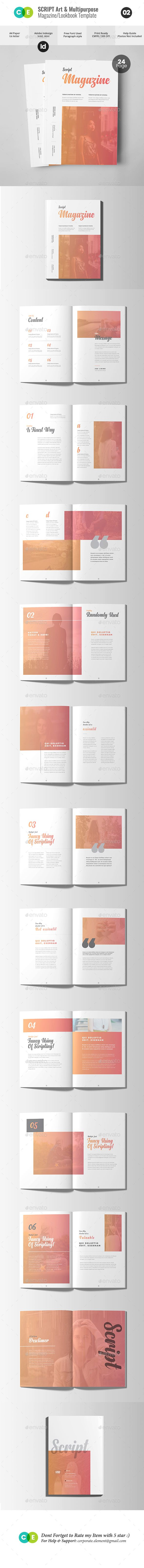 script the magazine lookbook v02 template print templates and