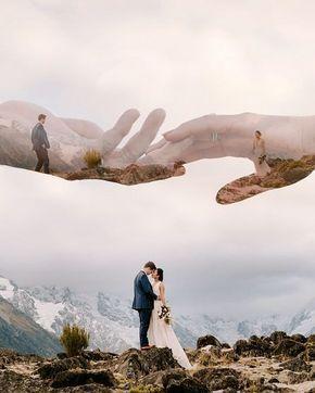 18 idées de photos de mariage à double exposition   Roses & Anneaux – Partie 2   – Deri