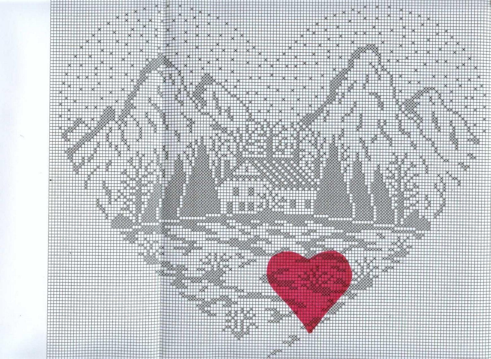 Cross stitch pattern, mountain cottage. | cross stitch | Pinterest ...