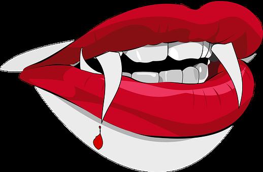 Dracula Zahne Vampir Blut Tropfen Lippen H Drachen Silhouette Vampire Zeichnungen