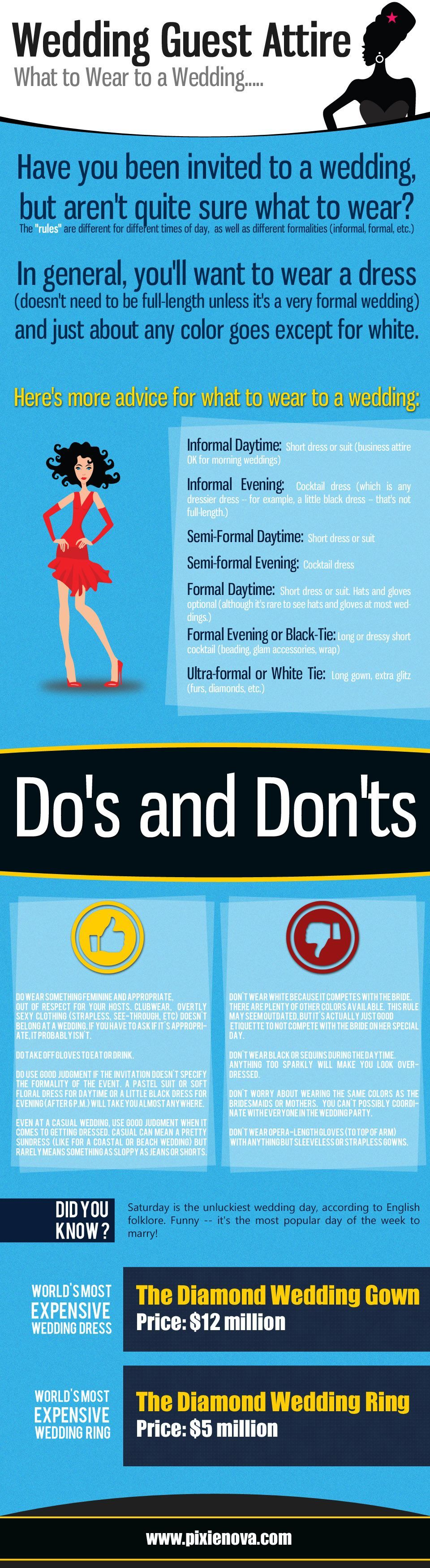 Infographic: What to wear to a wedding?