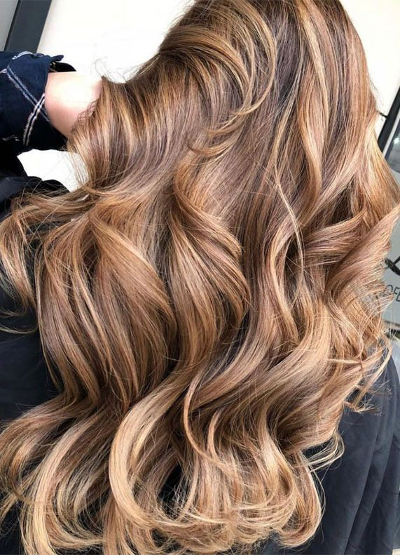 These Gorgeous Hair Dye Colors And Hair Color Ideas You Should Try In 2020 In 2020 Balyage Long Hair Honey Blonde Hair Brown Hair Dye