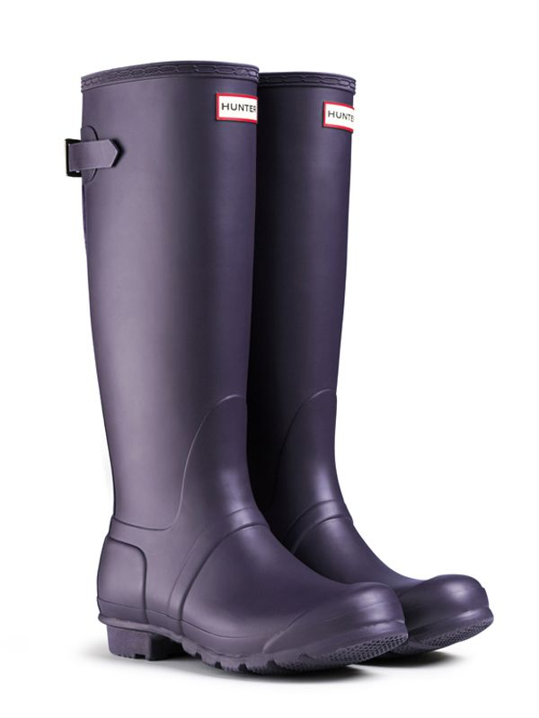 Adjustable Rain Boots | Original Back Adjustable | Hunter Boot $150 (would  want in Aubergine