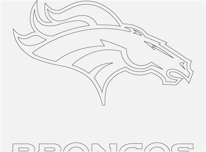 Broncos Coloring Pages Pic Denver Broncos Logo Coloring Page Di 2020