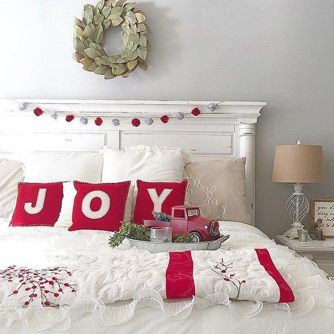 christmas decorating ideas for bedroom