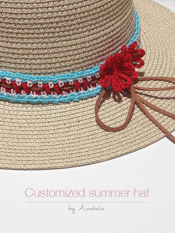 Cómo personalizar un sombrero de verano con ganchillo, patrón libre ...