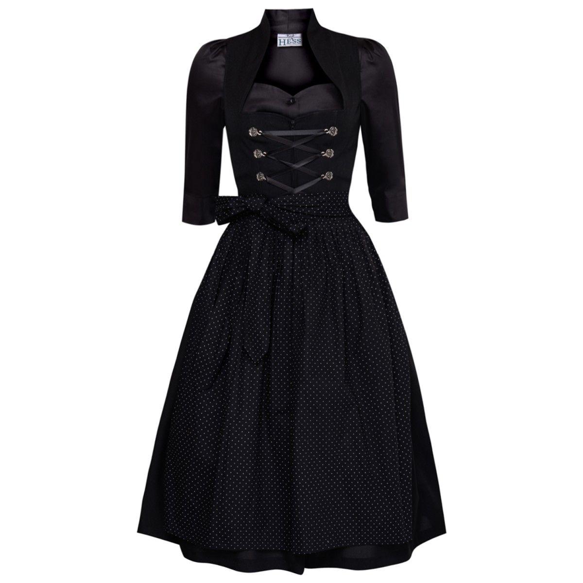 midi dirndl lorle in schwarz mit schwarzer dirndlbluse von. Black Bedroom Furniture Sets. Home Design Ideas