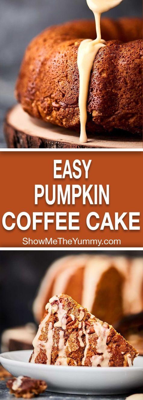 Easy Pumpkin Coffee Cake Recipe Pumpkin coffee cakes