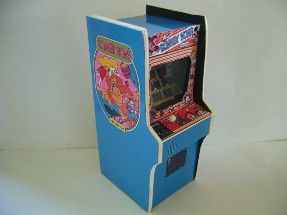 Donkey Kong  1/6th Scale Miniature Arcade Machine Model  12 inch scale barbie hot toys 6 scale - Amazing! on Etsy.com