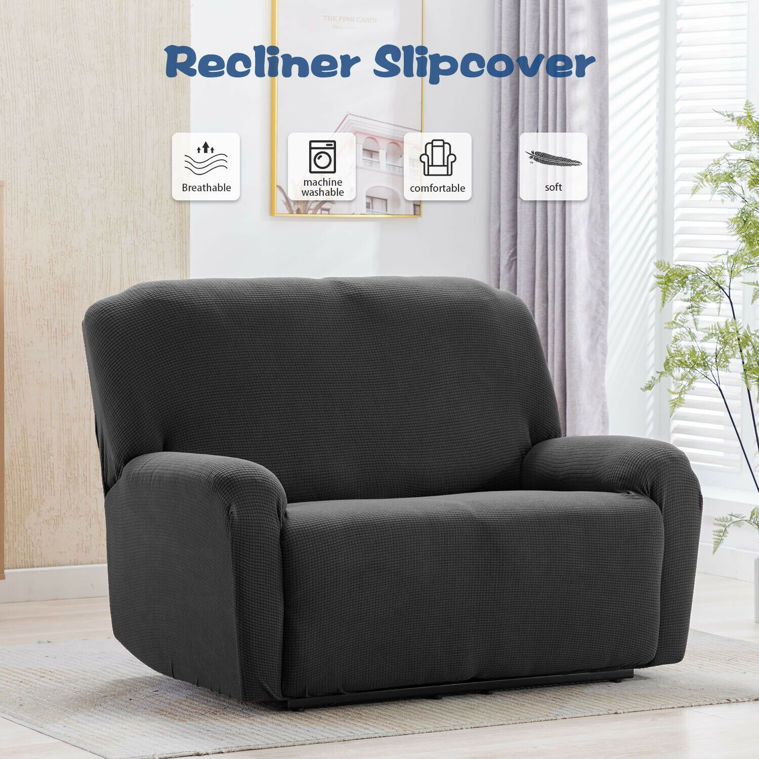 Recliner Chair Sofa Slipcover Stretch Fit Loveseat Furniture Protector Cover Sofa Slipcover Ide Couch Covers Slipcovers Fabric Sofa Cover Ektorp Sofa Cover