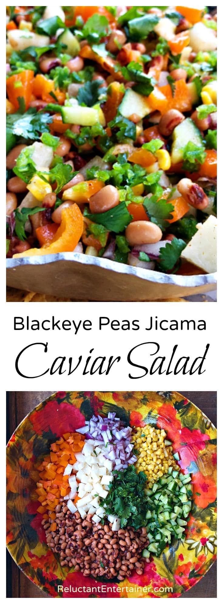 Blackeye peas jicama caviar salad recipe salad recipes