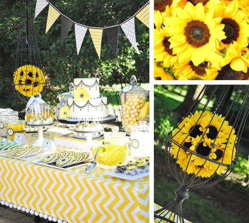 Sunflower Decorations for Party | Parties by WH Hostess: Sunflower Soiree Dessert Table | The Party ...
