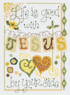 Jesus By Your Side - Cross Stitch Kit-This is SUPER cute