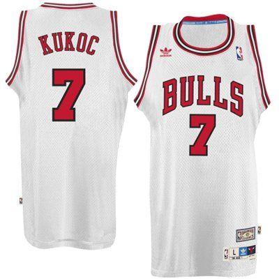 bc01486904c adidas Toni Kukoc Chicago Bulls Hardwood Classics Swingman Jersey - White