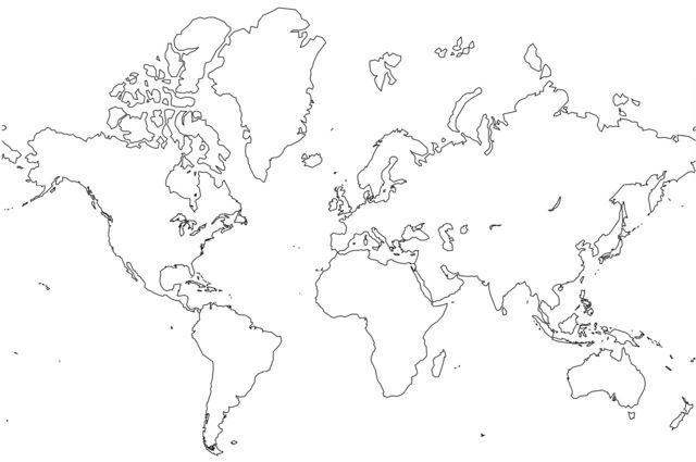 World map outline printable art pinterest explore world map outline world map poster and more publicscrutiny Images