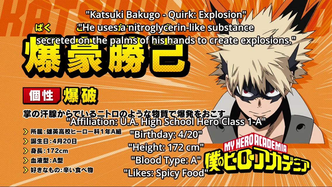 Katsuki Bakugou Info Hero Academia Characters My Hero My Hero Academia